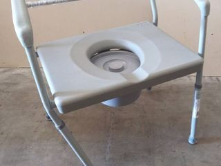 Duro Med DMI Heavy Duty Steel Commode with Platform Seat   Damaged