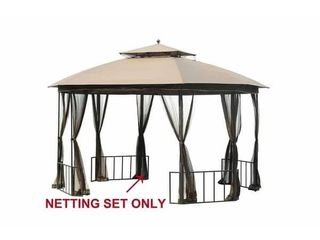 Sunjoy Replacement Mosquito Netting for Catalina Gazebo  11 x13    Brown  l GZ660PST D