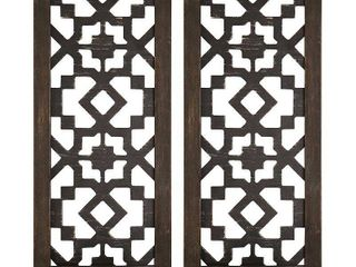 Stratton Home Decor Boho laser Cut Sconce  Set of 2