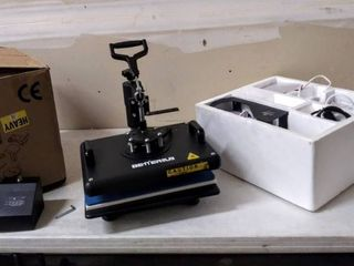 BetterSub Heat Press 12x15 Inch Combo 5 in 1 Heat Press Machine for T Shirt Mug Hat Plate Cap Pattern Printing Heat Transfer Digital Industrial Quality Sublimation Machine 360 Degree Swivel