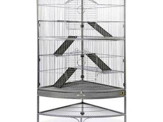 Prevue Pet Products Corner Ferret Cage  Black