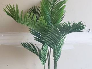 Fopamtri Faux Plastic Plant 38  Tall With Plastic Base  Some leaves Are Bent