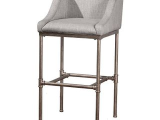 Hillsdale Furniture Dillion Non Swivel Counter Stool   35 25H x 20 625W x 21 5D with 26  Seat Height  Gray