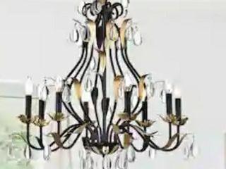 Adhafera 8 light Candle Chandelier