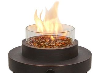 Missing Glass  Endless Summer 14 in W 6 000 BTU Oil Rubbed Bronze Portable Tabletop Steel liquid Propane Gas Firebowl