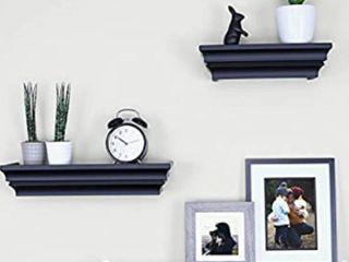 Ballucci Victorian Wall ledge And Shelf 12  16  24  Set Of 3 Black