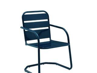 Baie Verte Blue Metal Chairs  Set of 2  by Havenside Home  Retail 146 99