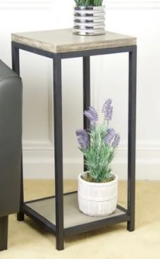 Echostyle 2 tier solid bamboo steel frame plant stand