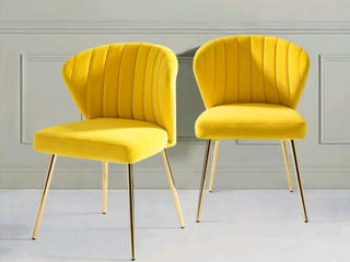 Set of 2 yellow Milia Dining Chair   Retail 184 49