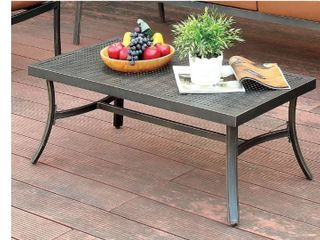 Glouchester Distressed Black Outdoor Coffee Table by Havenside Home  Retail 125 99