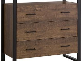 Rustic Amber 3 drawer Accent Cabinet   35 50  x 15 50  x 34 75
