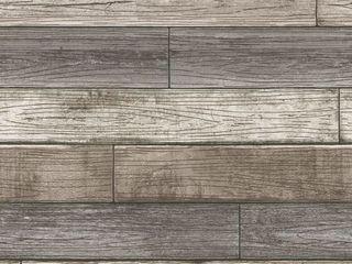 3D Reclaimed Rectangular DIY Peel and Stick Mixed Grey Wood Panels Plank Decor 10 Panels   16sqft