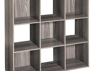 ClosetMaid 4167 Cubeicals Organizer  9 Cube  Natural Gray