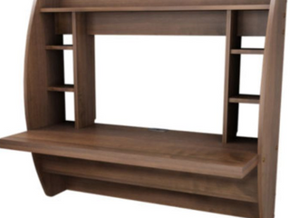 Prepac Floating Desk With Storage Espresso