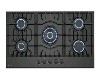 Built in 30  Gas Cooktop   5 Sealed Burners Cook Tops in Stainless Steel  Retail 331 99