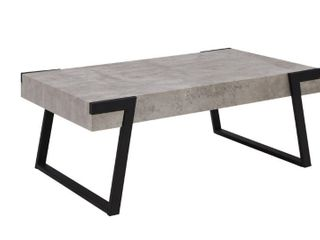 Carbon loft Galen Modern Concrete look and Metal Cocktail Table  Retail 209 99