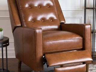 Abbyson Holloway Mid Century Top Granite Brown Recliner