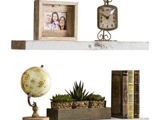 Del Hutson Designs True Floating Shelves  Set of 2  36