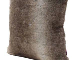 le Pouf ash white fur pillow