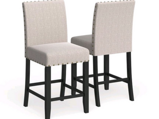 Strick   Bolton Gallaccio 25 inchTan Fabric Stool  Set of 2    40 H x 18 3 W x 22 3 l  Retail 154 99