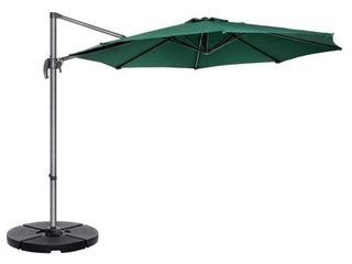Villacera 10  Cantilever Umbrella with 360 Degree Pole Vertical Tilt  Base Included  Retail 183 49