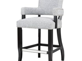 Madison Park Parler Grey Arm 26 inch Counter Stool   22 5 w x 24 5 d x 40 25 h  Retail 191 49