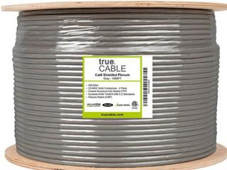 Gray 1000FT True Cable  Cat Augmented Plenum