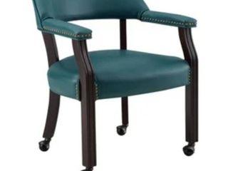 le gracewood hollow broker captain s chair teal color