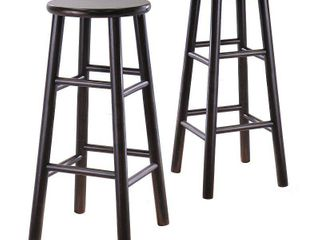 Winsome Wood Tabby 30  Beveled Seat Stools  2PC