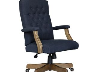 Traditional Executive Chair Navy linen   Boss Office Products