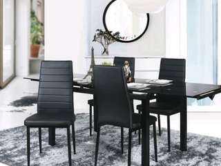 Set of 6 Porch   Den Wrightwood Black Dining Chairs  Retail 272 99