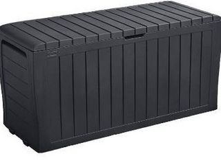 Keter Marvel Plus 71 Gallon All Weather Storage Deck Box  Grey
