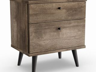 Carson Carrington Hitra Mid century 2 drawer Nightstand  Retail 159 99