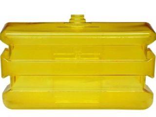 Bradley 133 140 Polycarbonate On Site Portable Eyewash Tank  Clear Yellow