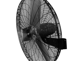 Comfort Zone CZHVW30 High Velocity Industrial 2 Speed Black Wall Fan with Aluminum Blades and Adjustable Tilt 30  Retail 143 49