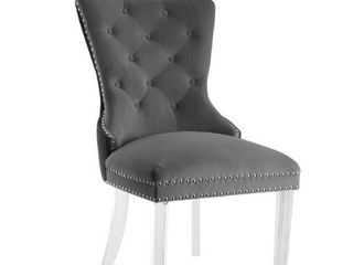 Braff Velvet Tufted Fabric Dining Chairs by Corvus  Set of 2  Retail 407 49