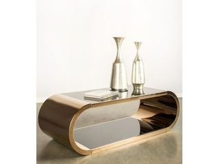 Statements by J Pia Chrome Coffee table  18 Inch Tall Copper