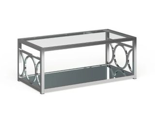 Silver Orchid Pehrson Contemporary Glass Top Coffee Table  Retail 264 99