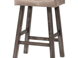 Hillsdale Furniture Saddle Non Swivel Backless Bar Stool