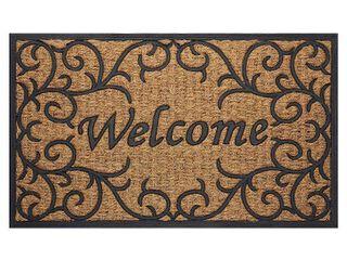 Achim Coir Doormat Vines   Beige Brown  18 x30
