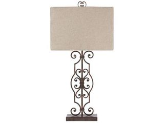 Signature Design by Ashley Calidora Antique Copper Finish 34  Metal Table lamp