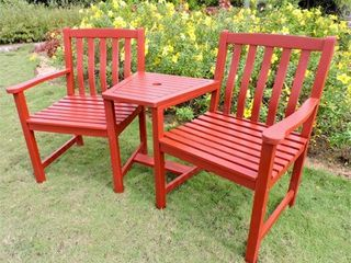 International Caravan Royal Fiji Double Patio Conversation Chair  Retail 235 49