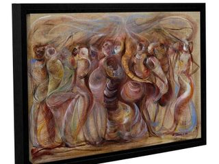 Ikahl Beckford s  Storming  Gallery Wrapped Floater framed Canvas  Retail 88 99