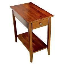 Porch   Den Holly Hill Solid Acacia Recliner End Table