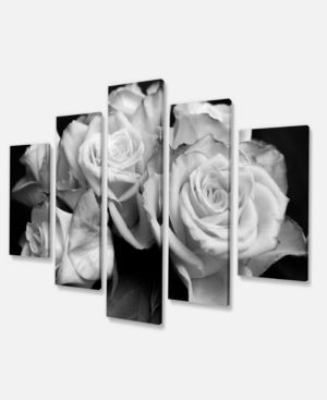 Bunch of Roses Black and White   Floral Canvas Art Print  Retail 98 99