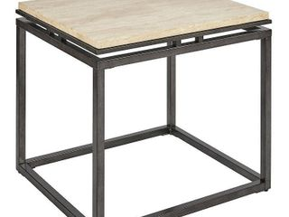 Madison Park Koko Cream Marble and Metal End Table  Retail 241 09