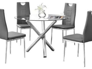Best Master Furniture 1 only chair black and crome
