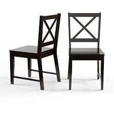 Porch   Den Madison Black Cross Back Dining Chairs  Set of 2  Retail 105 99