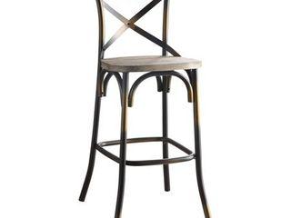 ACME Zaire Bar Chair in Antique Copper  Retail 139 99