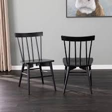 Porch   Den Winbury Traditional Wood Dining Chair Set  Set of 2    Retail 177 99